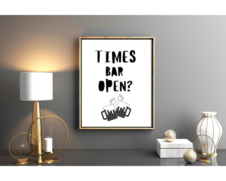 Times bar open?