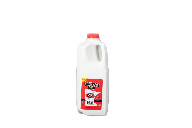 Stony Creek Dairy Whole Milk Half Gallon