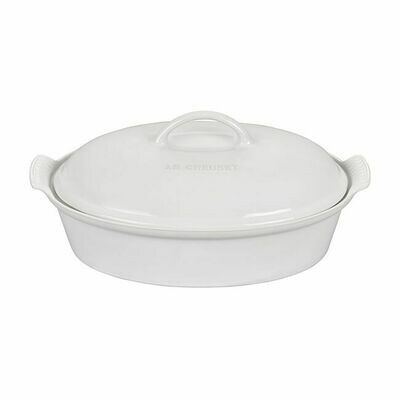 Oval Casserole Dish with Lid 4 Qt