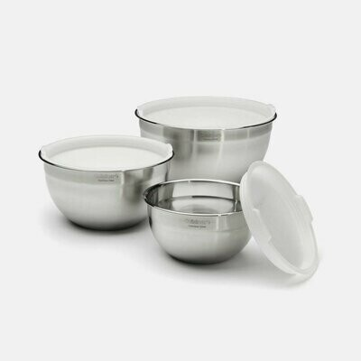 Stainless Steel Mixing Bowls w/ Lids- Set of 3