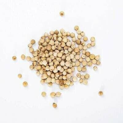 Peppercorns White Whole  - 1/2 cup Shaker Jar (2 oz)