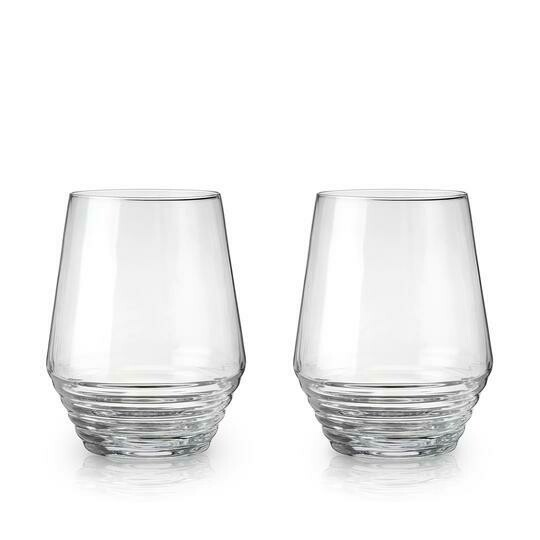 Deco Stemless Wine Glasses
