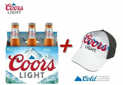 COORS LIGHT BOTELLA 12 OZ - 6PACK *PROMO DISPONIBLE UNICAMENTE SPS*