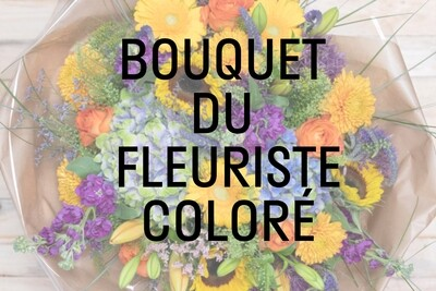 Bouquet du fleuriste : coloré