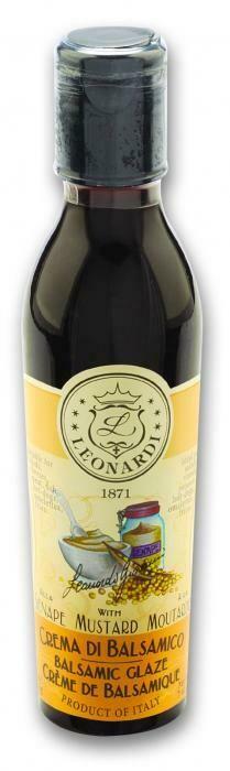 Mustard Balsamic Glaze Leonardi 220ml