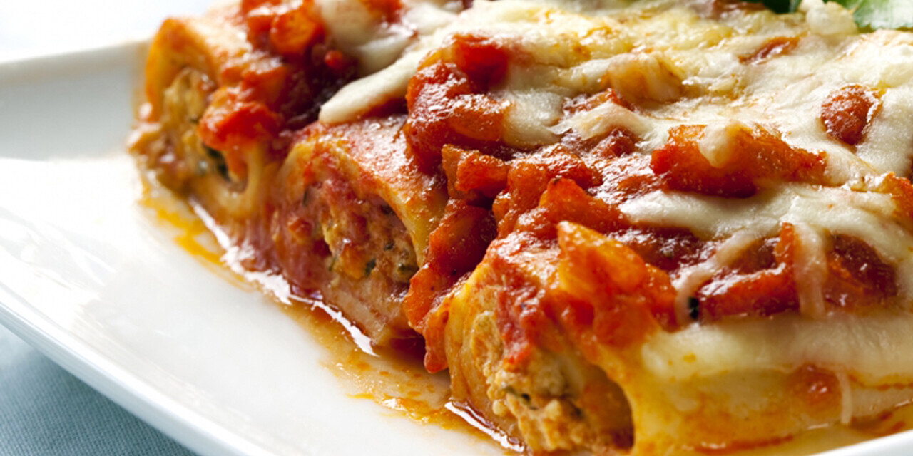 Cannelloni di Carne (Meat) in Tomato Sauce & Cheese T/A 350g c.
