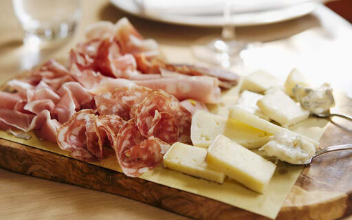 Mixed Cheese, Ham & Salami Selection for 2 People