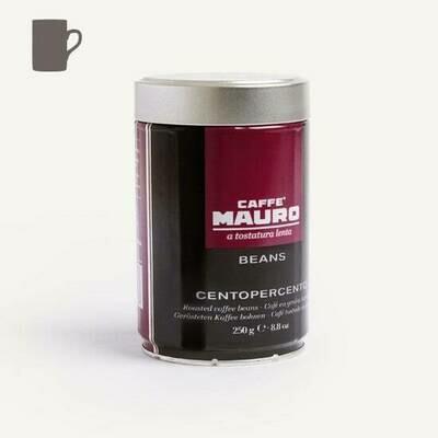 Caffè Mauro CENTOPERCENTO Beans Tin 250g