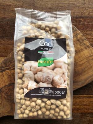 Organic Chickpeas 500 g.