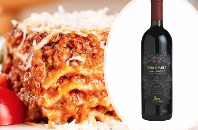 Casa Italia Beef Lasagne for 2 People with a Bottle of Red Wine