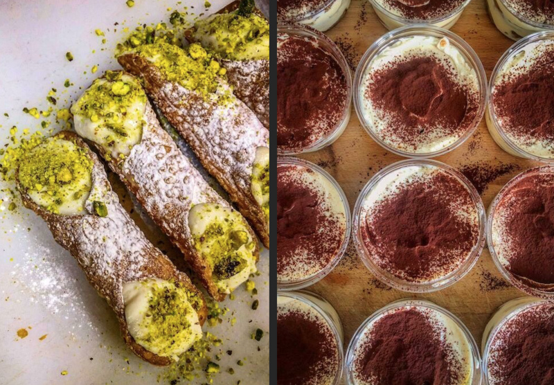 Dessert Italiano Perfetto: 2x Cannolo Siciliano + 2x Il Nostro Tiramisu