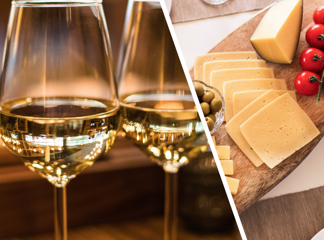 Mixed Italian Cheese for 2 People & Bottle of Chardonnay