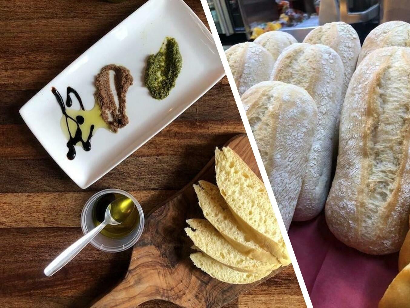 Trio of Antipasti Dips + Bread for 2
