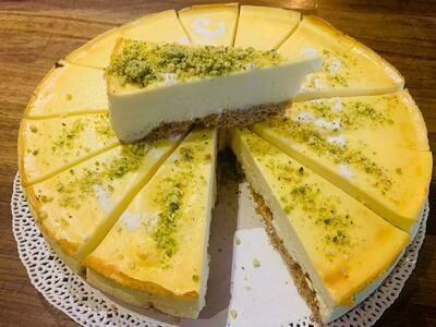 Slice of Sicilian Baked Cheesecake