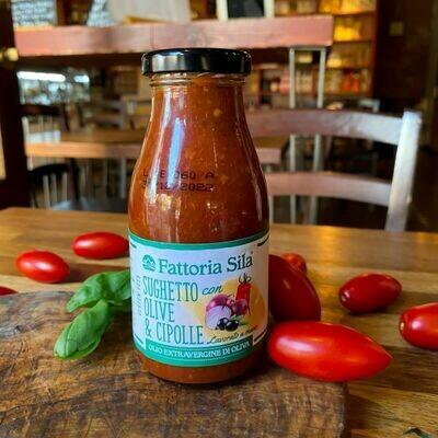 Ready Tomato, Olives & Onion Sauce 250g