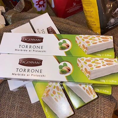 Soft Torrone Nougat With Almonds And Pistachio 150g