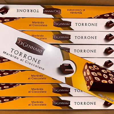 Soft Torrone Nougat With Hazelnuts And Dark Chocolate 150g