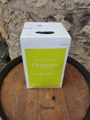 Bag in Box 10 litres l'Ormarine Blanc