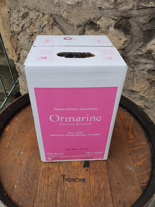 Bag in Box 10 litres l'Ormarine Rosé