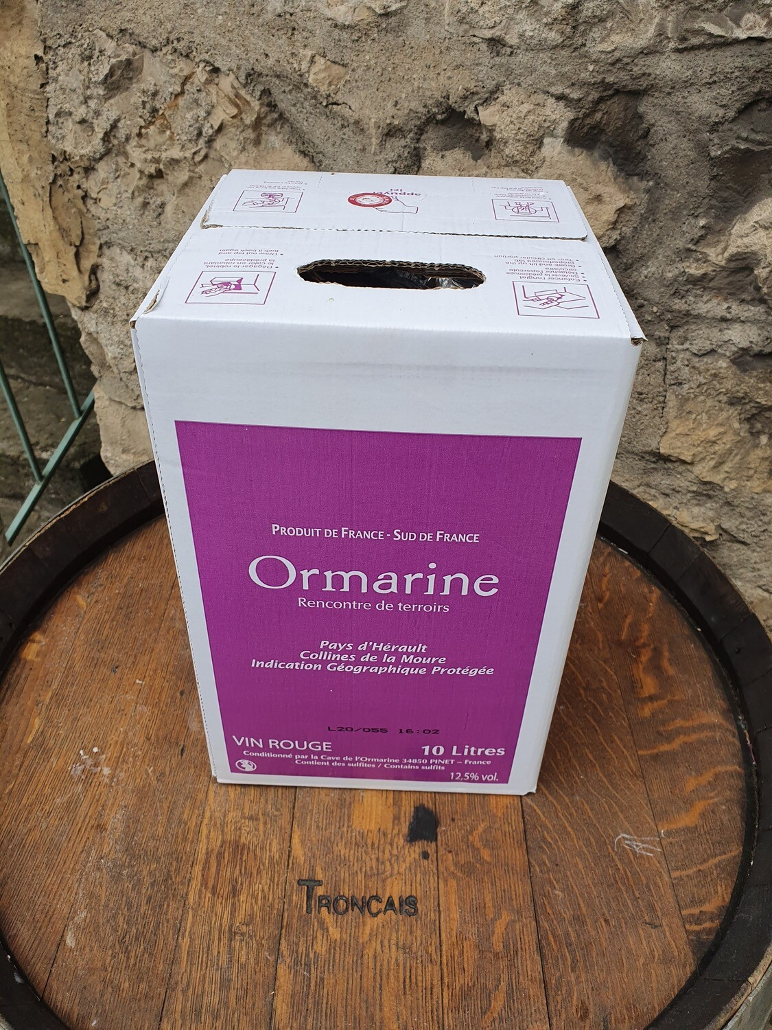 Bag in Box 10 litres l'Ormarine Rouge