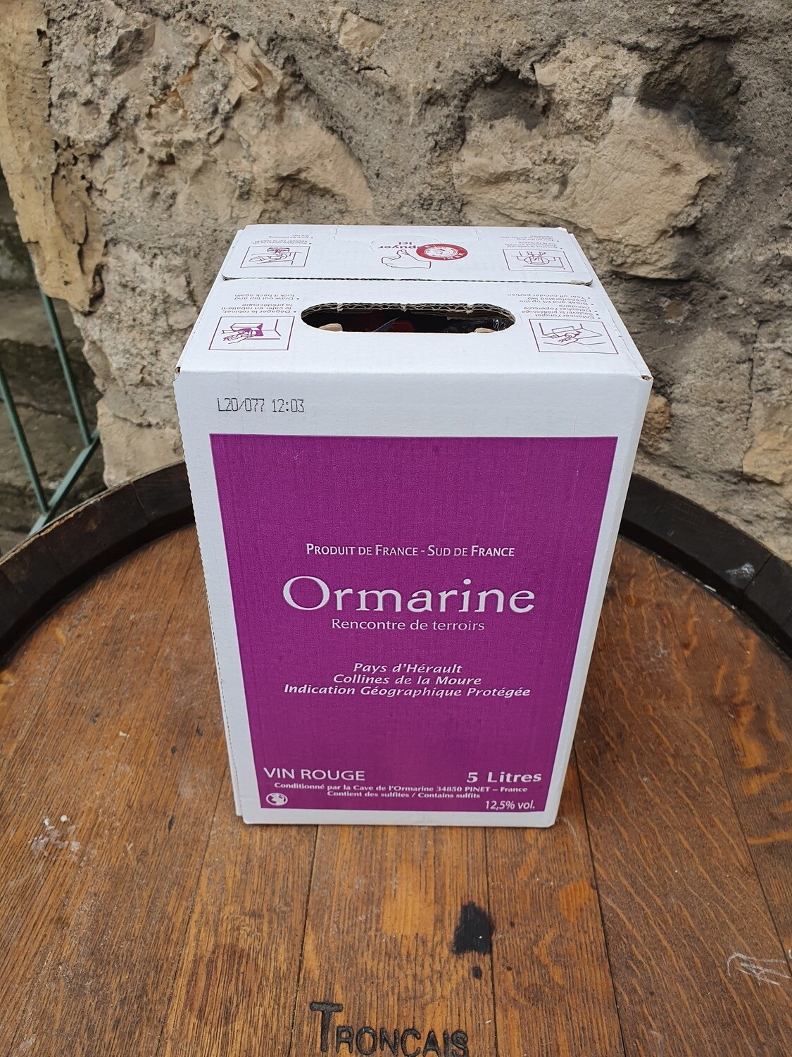 Bag in Box 5 litres l'Ormarine Rouge