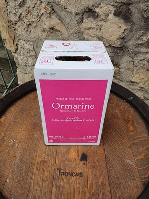 Bag in Box 5 litres l'Ormarine Rosé