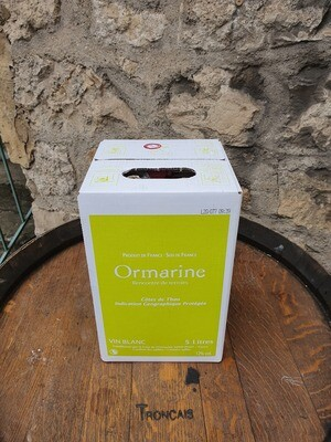 Bag in Box 5 litres l'Ormarine Blanc