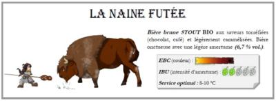 """Bière Brune Stout """" La Naine Futée """" ( 6 bouteilles de 33 cl )"""