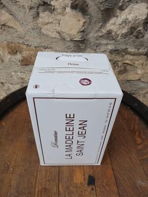 """Bag in Box 5 litres Domaine la Madelaine Saint Jean """" Rosé """""""