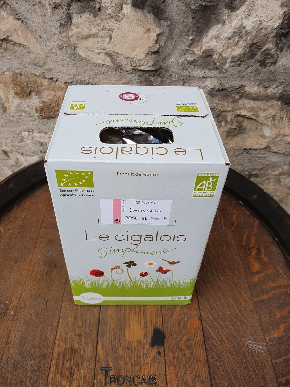 """Bag in Box 5 litres rosé """"BIO"""" Le Cigalois"""