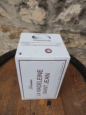 "Bag in Box 5 litres Domaine la Madelaine Saint Jean "" Chardonnay """