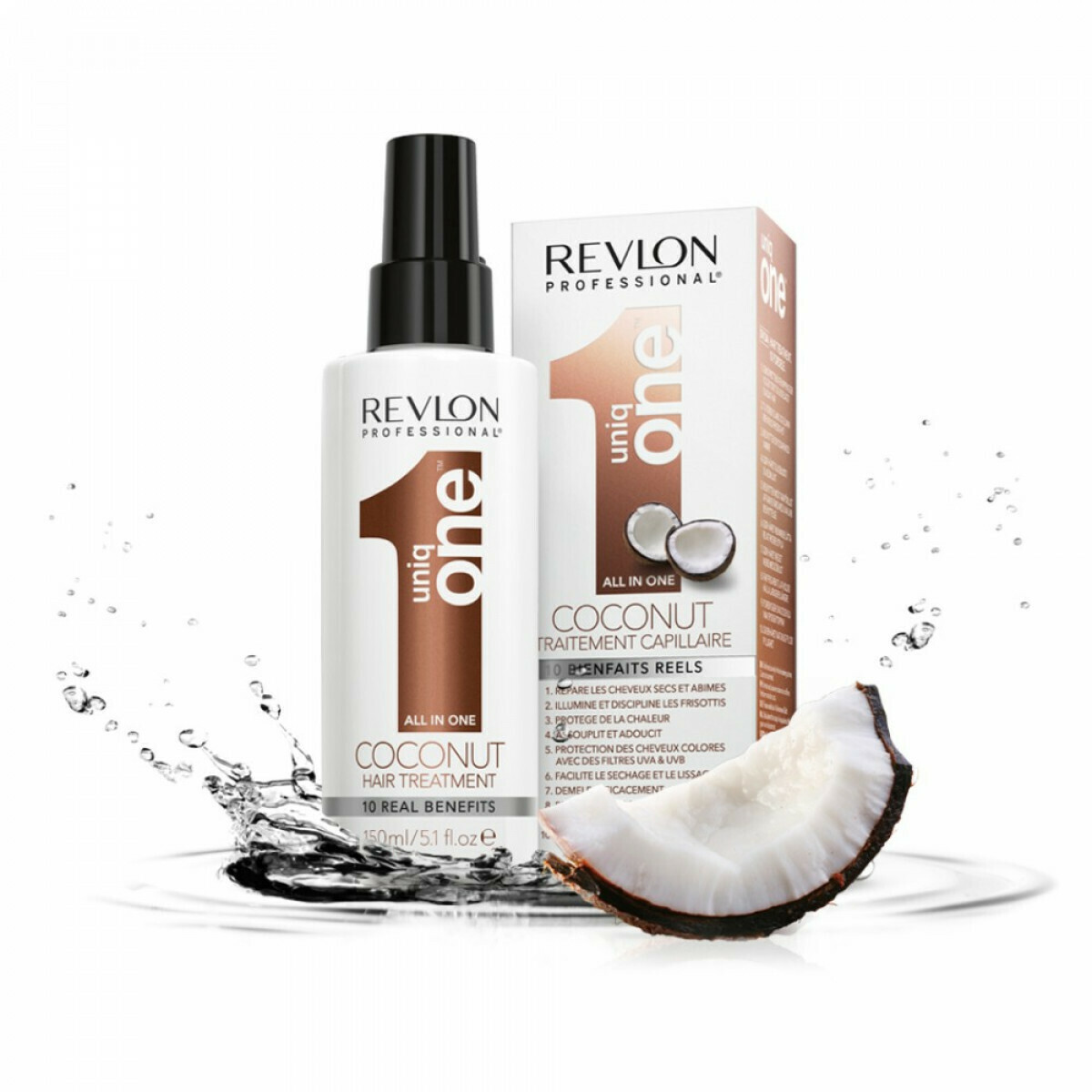 Spray sans rinçage 10 en 1 coconut - 150ml - Uniq One - Normaux Revlon