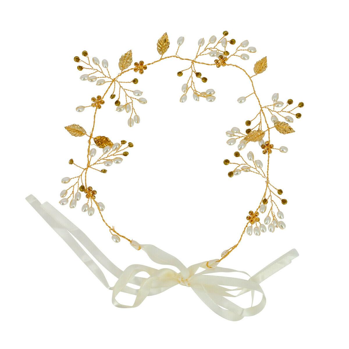 Headband mariée avec perles Beautélive