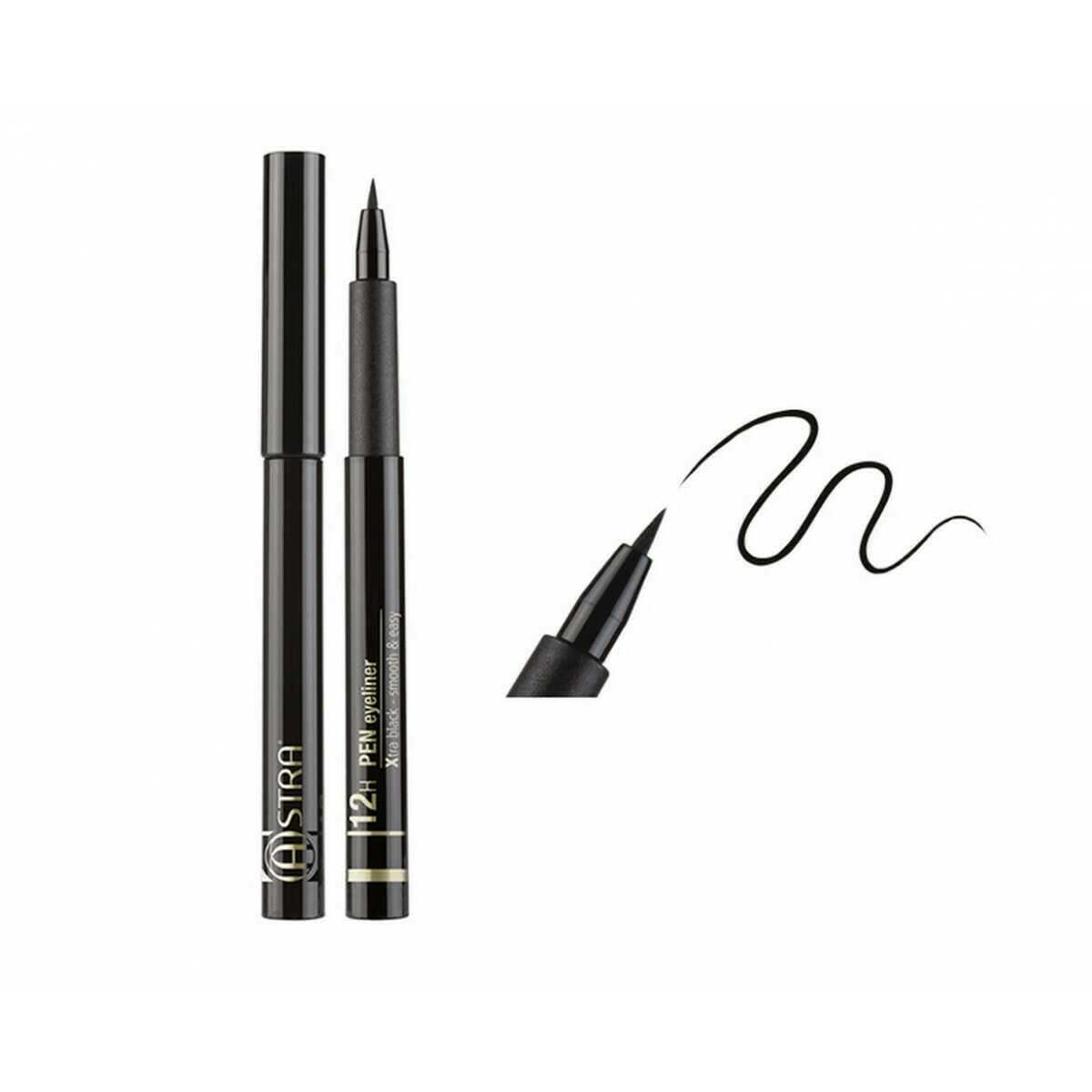 Eyeliner feutre Xtra black 12h - 3ml Astra Make-Up