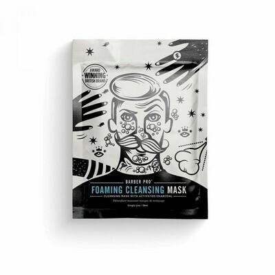 Masque tissu visage homme détoxifiant moussant au charbon - 18ml - Détoxifiant   Beauty Pro