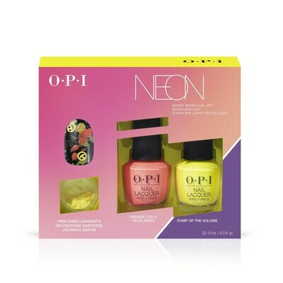 Kit de vernis Lacquer & Décoration Collection Neon orangé et jaune  2 coffrets disponible  OPI