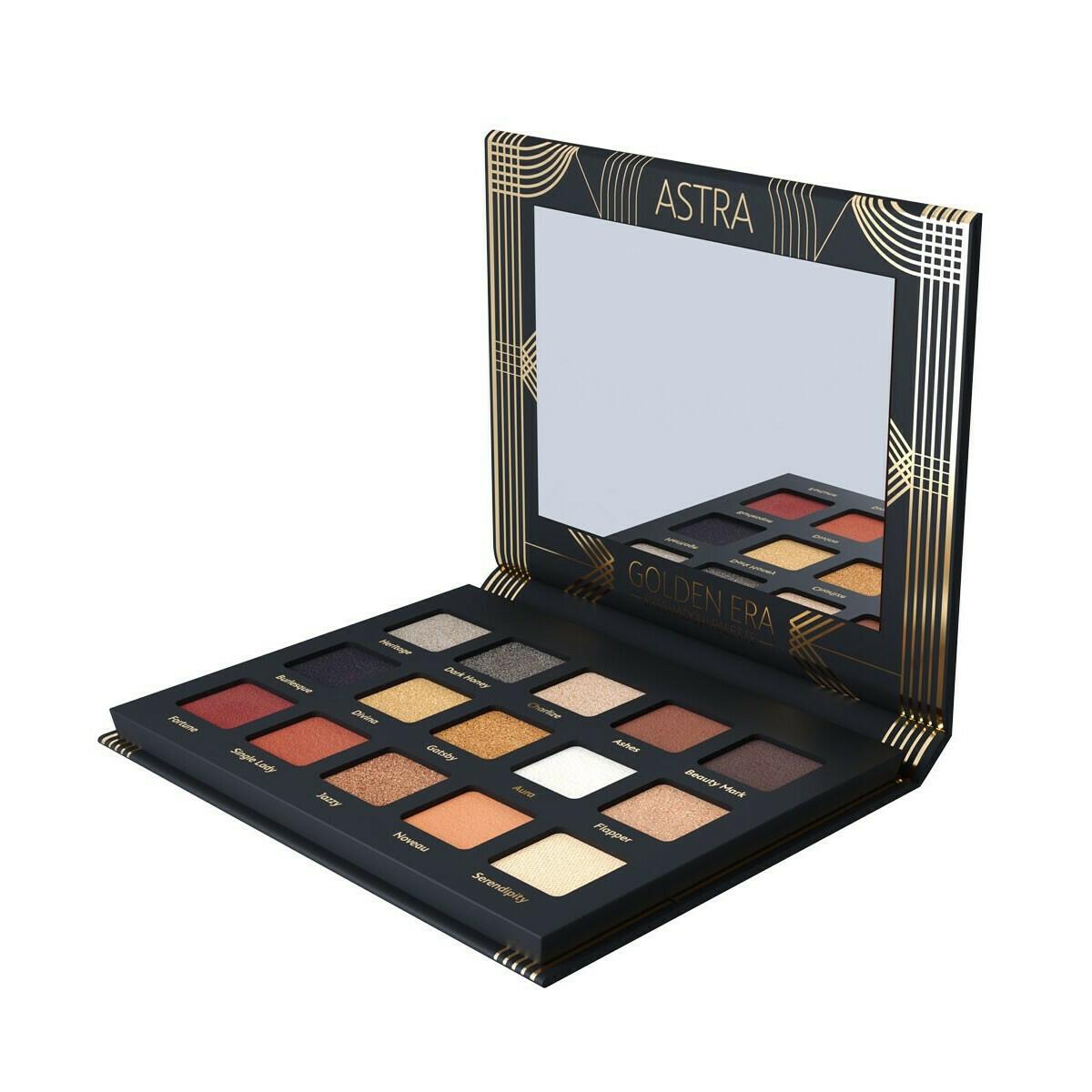 Palette ombre à paupières Golden Era - Mat, Métallisé, Pailleté Astra Make-Up