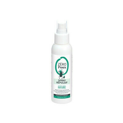 Spray répulsif végan anti-poux - 100ml - Zéro poux