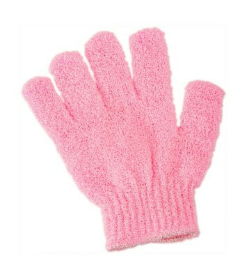 Gants exfoliant x2 - rose clair