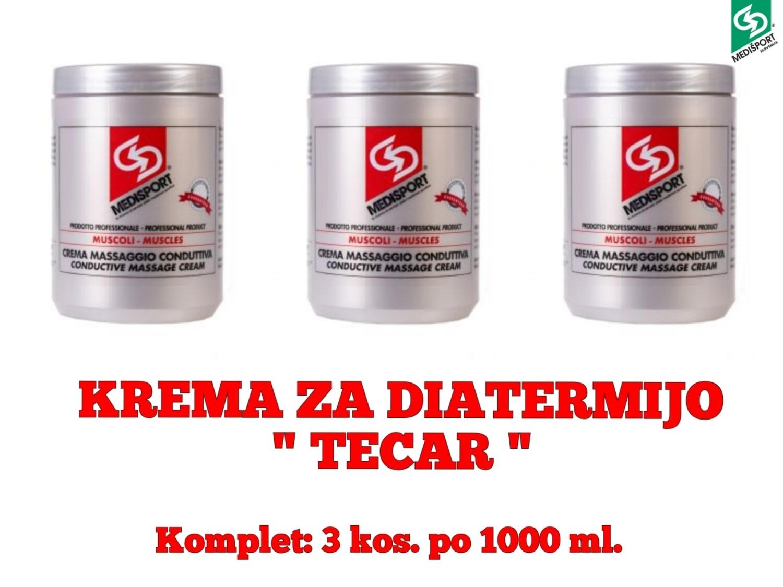 """PREVODNA KREMA ZA DIATERMIJO """" TECAR""""  - 3 kos. po 1000 ml."""