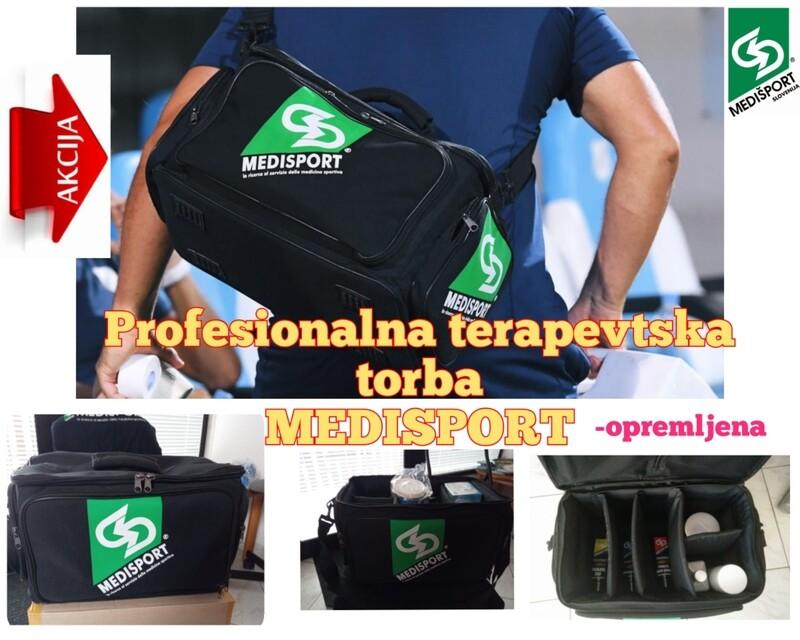 PROFESIONALNA TERAPEVTSKA TORBA MEDISPORT - opremljena z izdelki