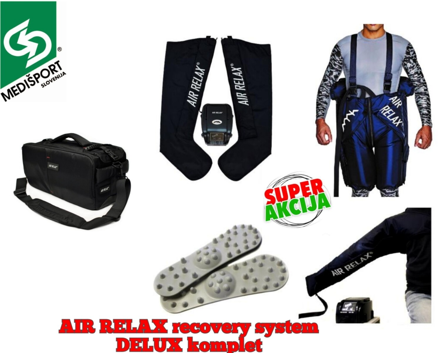 AIR RELAX recovery system - DELUX komplet