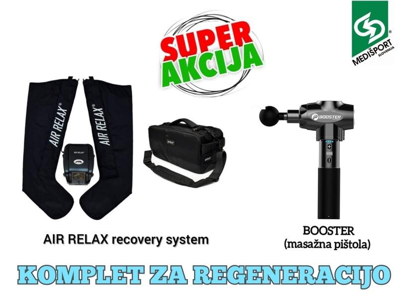 KOMPLET ZA REGENERACIJO ŠT. 2: AIR RELAX recovery system + BOOSTER  masažna pištola.