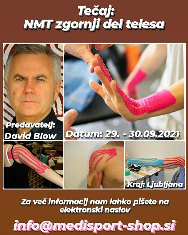 Tečaj NEVRO MIŠIČNI TAPING - NMT zgornji del telesa