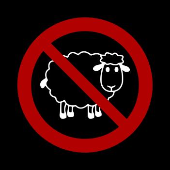No Sheep - (Mens/Ladies Shirt)