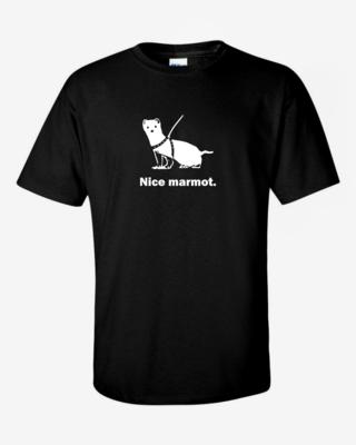"""Nice Marmot"" - Mens Softstyle T-Shirt"
