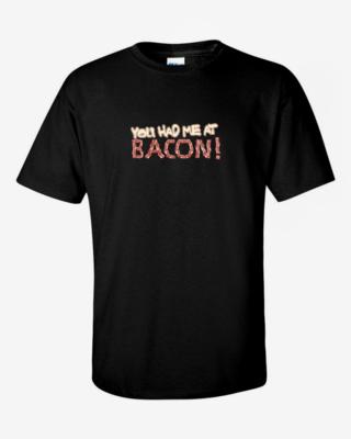 """You Had Me at Bacon"" Mens Softstyle T-Shirt"