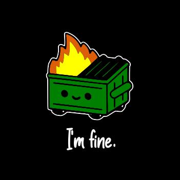 Dumpster Fire - (Mens/Ladies Shirt)