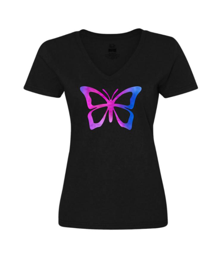 Purple Butterfly (Ladies/Unisex Shirt)
