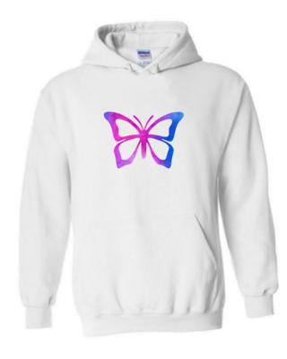 Purple Butterfly - Unisex Hoodie